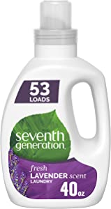Seventh Generation Concentrated Laundry Detergent, Fresh Lavender scent, 40 oz (53 Loads)