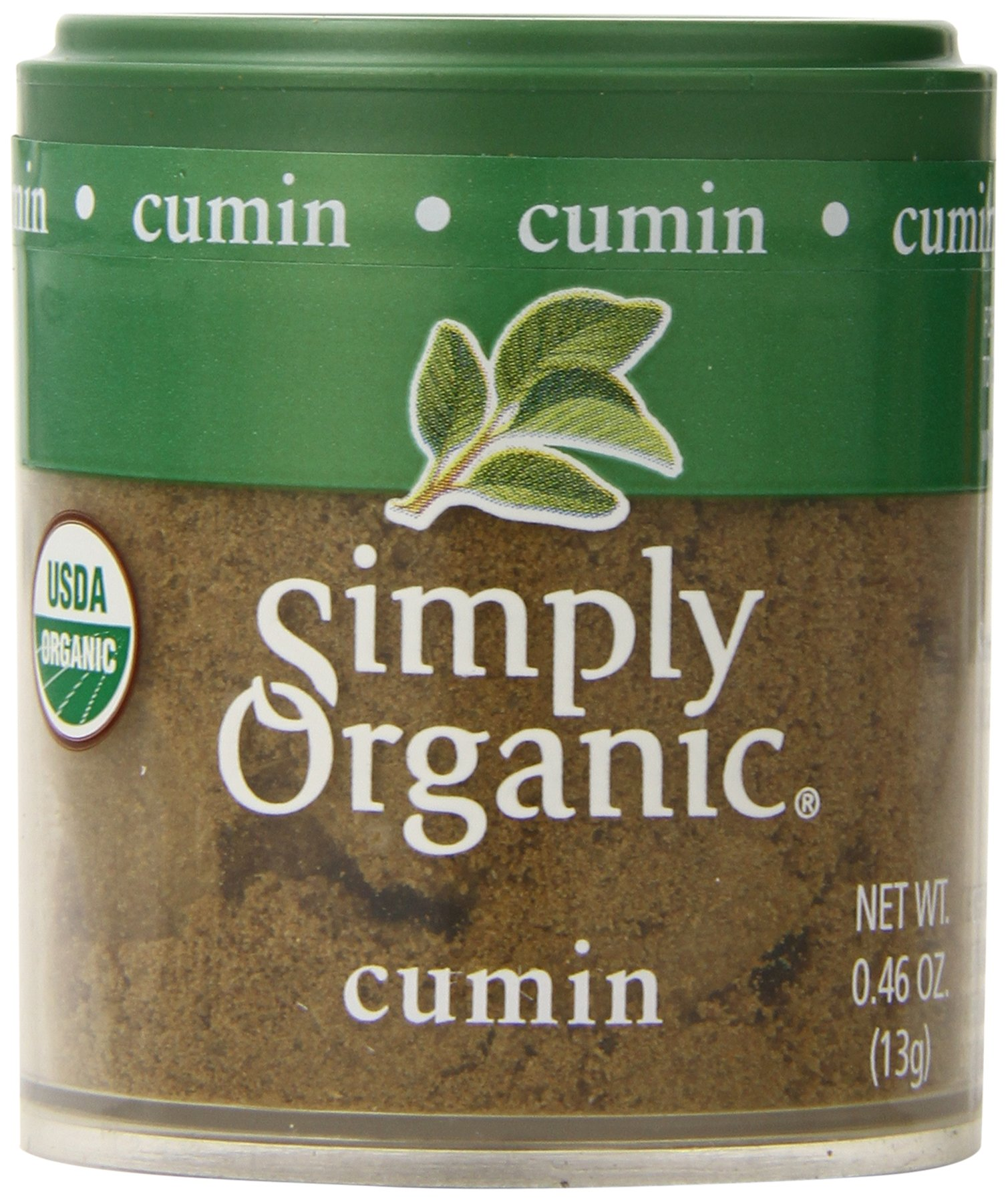 Simply Organic Cumin Seed Ground Certified Organic, 0.46-Ounce Containers (Pack of 6)