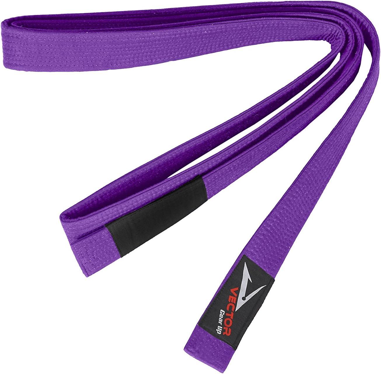 Colores est/ándar brasile/ños Jiu Jitsu Vector Sports Cintur/ón 100/% de algod/ón brasile/ño Jiu Jitsu BJJ Pro