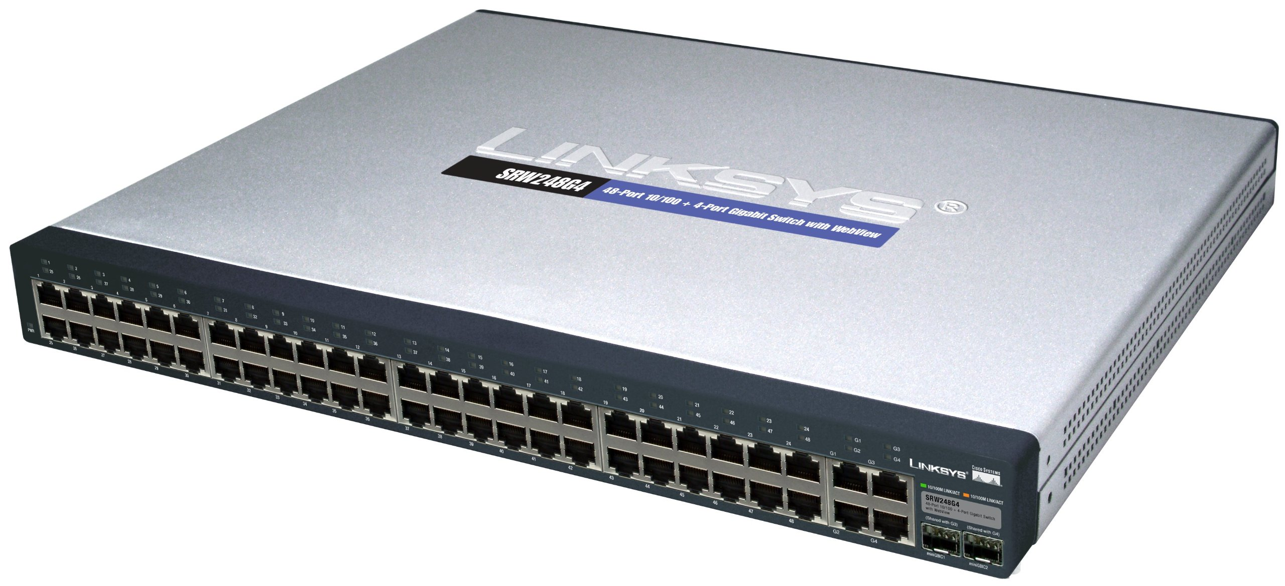 Cisco SRW248G4 48-port 10/100 + 4-port Gigabit Switch - WebView