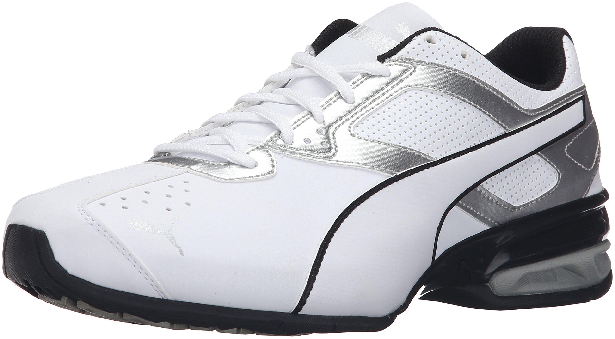 PUMA Men's Tazon 6 FM Puma White/ Puma Silver Running Shoe - 12 D(M) US