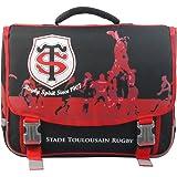 Stade Toulousain 153STO203STD Cartable Mixte Enfant, Noir/Rouge, 41 cm