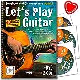 Let's Play Guitar Band 2 - Gitarrenschule von Alexander Espinosa mit DVD, 2 CDs, bunter herzförmiger Notenklammer - HINWEIS! Lehrprogramm/Lehrvideo gemäß §14 JuschG