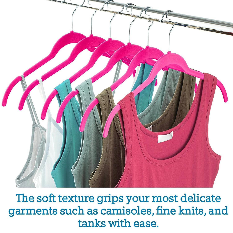 60 Pack Non Slip Clothes Hangers Ultra Slim Hangers Gain 50/% Closet Space Delicates 360/° Swivel Hook Premium Velvet Shirt Hangers Strappy Dresses Dress Shirts Blouses Felt Hangers for Tops