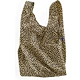 BAGGU Large Reusable Shopping Bag, Ripstop Nylon Grocery Tote or Lunch Bag, Honey Leopard