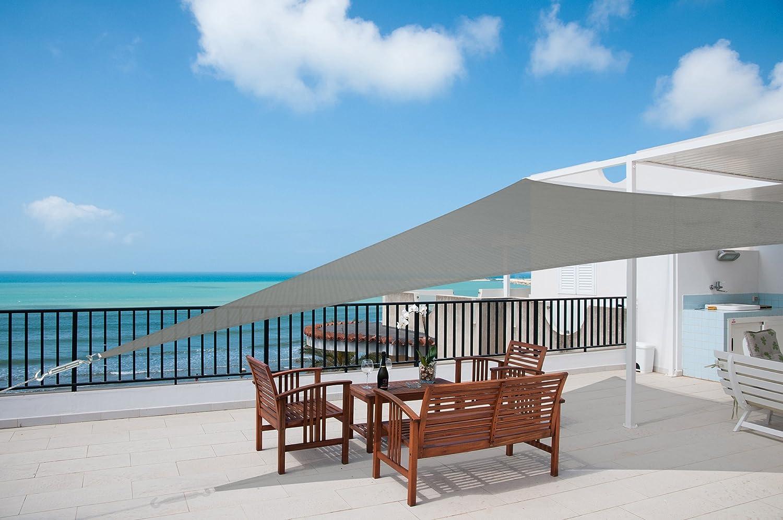 Sol Royal Tenda a Vela Traspirante SolVision HS9-4,2x4,2x6m Antracite Protezione Triangolare Parasole e Anti UV