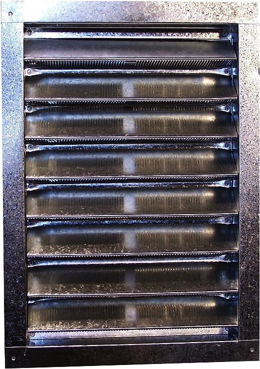 12-Inch by 12-Inch Norwesco 553220 Galvanized Recessed Attic Vent