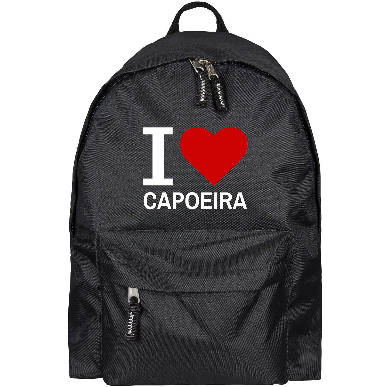 Sac à dos classic i love capoeira noir multifanshop