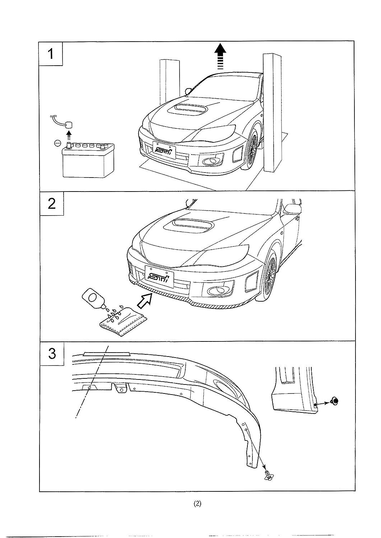 2011 2012 subaru impreza wrx sti v limited front bumper jdm p p lip Subaru WRX STI Twin Turbo 2011 2012 subaru impreza wrx sti v limited front bumper jdm p p lip spoiler amazon co uk car motorbike