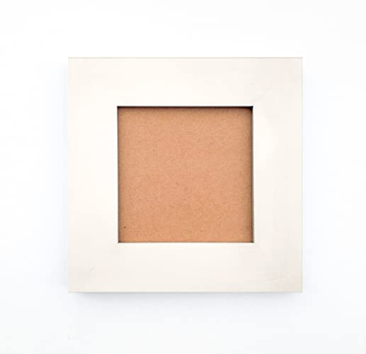 Amazon.com: Handmade Picture Frames - Warm White Matte Finish over ...