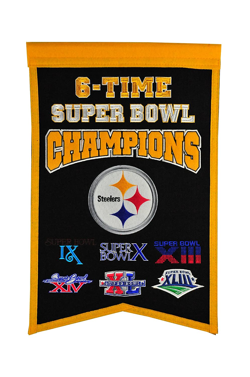 NFL Pittsburgh Steelers Champions Banner