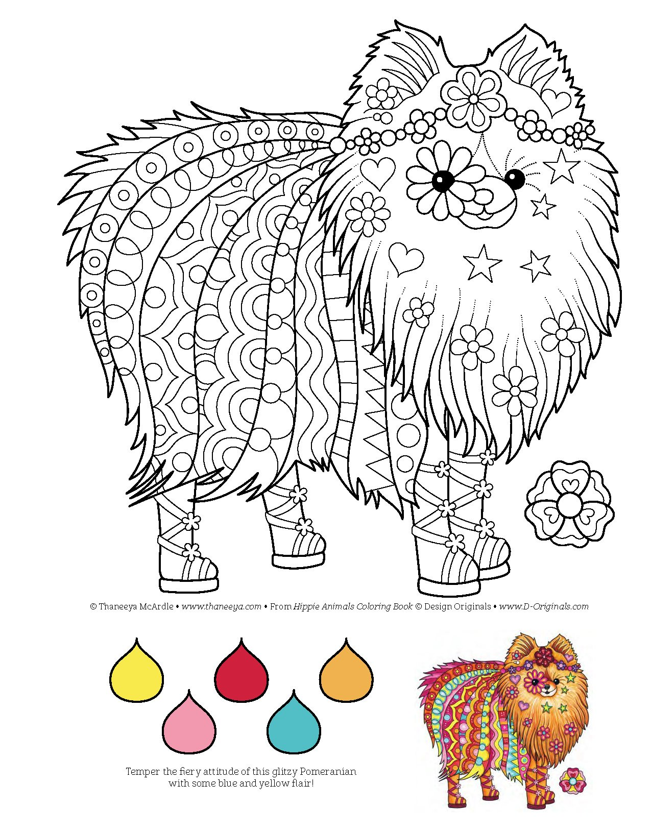 amazoncom hippie animals coloring book coloring is fun design originals 9781497202085 thaneeya mcardle books - Animals Coloring Book