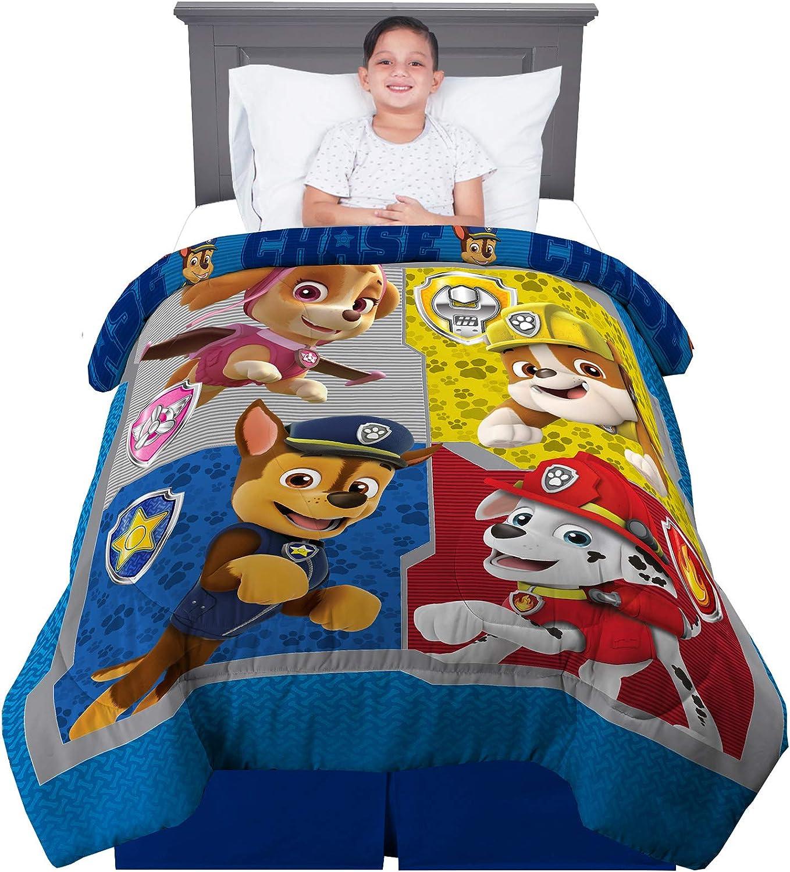 Amazon Com Franco Kids Bedding Super Soft Reversible Comforter Twin Full Size 72 X 86 Paw Patrol Home Kitchen