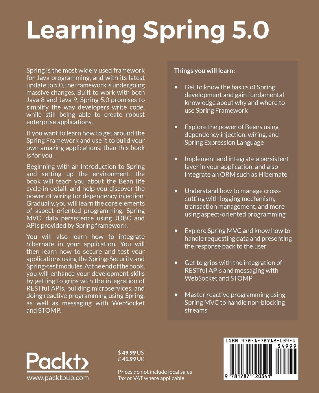 Learning Spring 50 Tejaswini Mandar Jog Books Wiring Programming Language