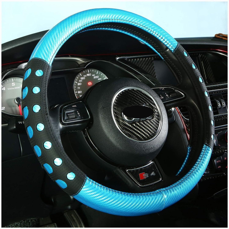 Shockproof Wear Resistant 38 cm General Purpose Concave Surface Steering Wheel Cover,Simplify Motion Emulsion Car Steering Wheel Cover
