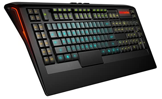 SteelSeries Apex 350 Gaming-Tastatur (22 Makro-Tasten, 5 einzelne RGB-Backlight-Zonen, Deutsches Tastaturlayout)