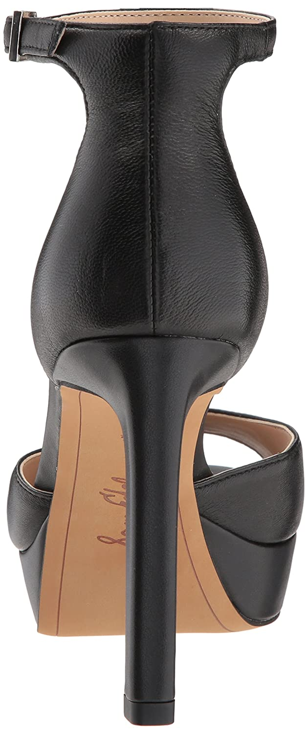 Sam Edelman Women's Jerin Heeled Sandal B07CD2SBYB 5.5 B(M) US|Black Leather