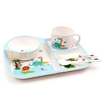 Lantelme 6203 Children Blue/White Children\u0027s Melamine Dinnerware Set with Plate Cup \u0026 Cutlery  sc 1 st  Amazon UK & Lantelme 6203 Children Blue/White Children\u0027s Melamine Dinnerware Set ...