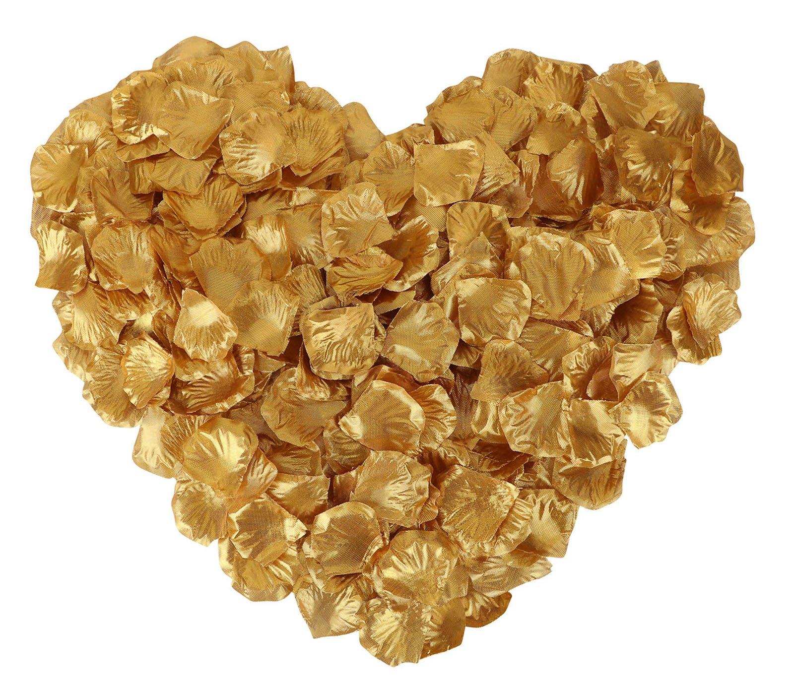 silk flower arrangements jasmine 1000 pieces non-woven rose petals artificial flower petals for wedding confetti valentine day flower décor,gold