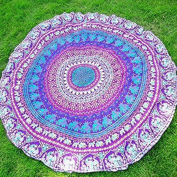elchom redondo indio Mandala Boho toalla de playa manta Roundie mantel esterilla de yoga manta tapete