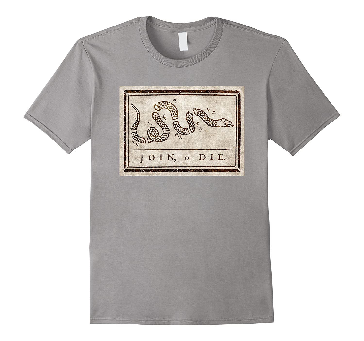 Join or die Benjamin Franklin Historical snake T-Shirt-ANZ