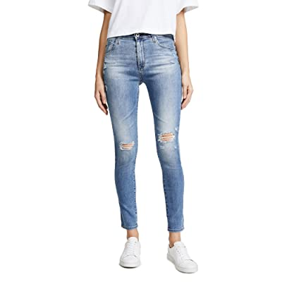 AG Women's The Farrah Ankle Skinny Jeans, Sea Sprite Destructed, 31 at Amazon Women's Jeans store
