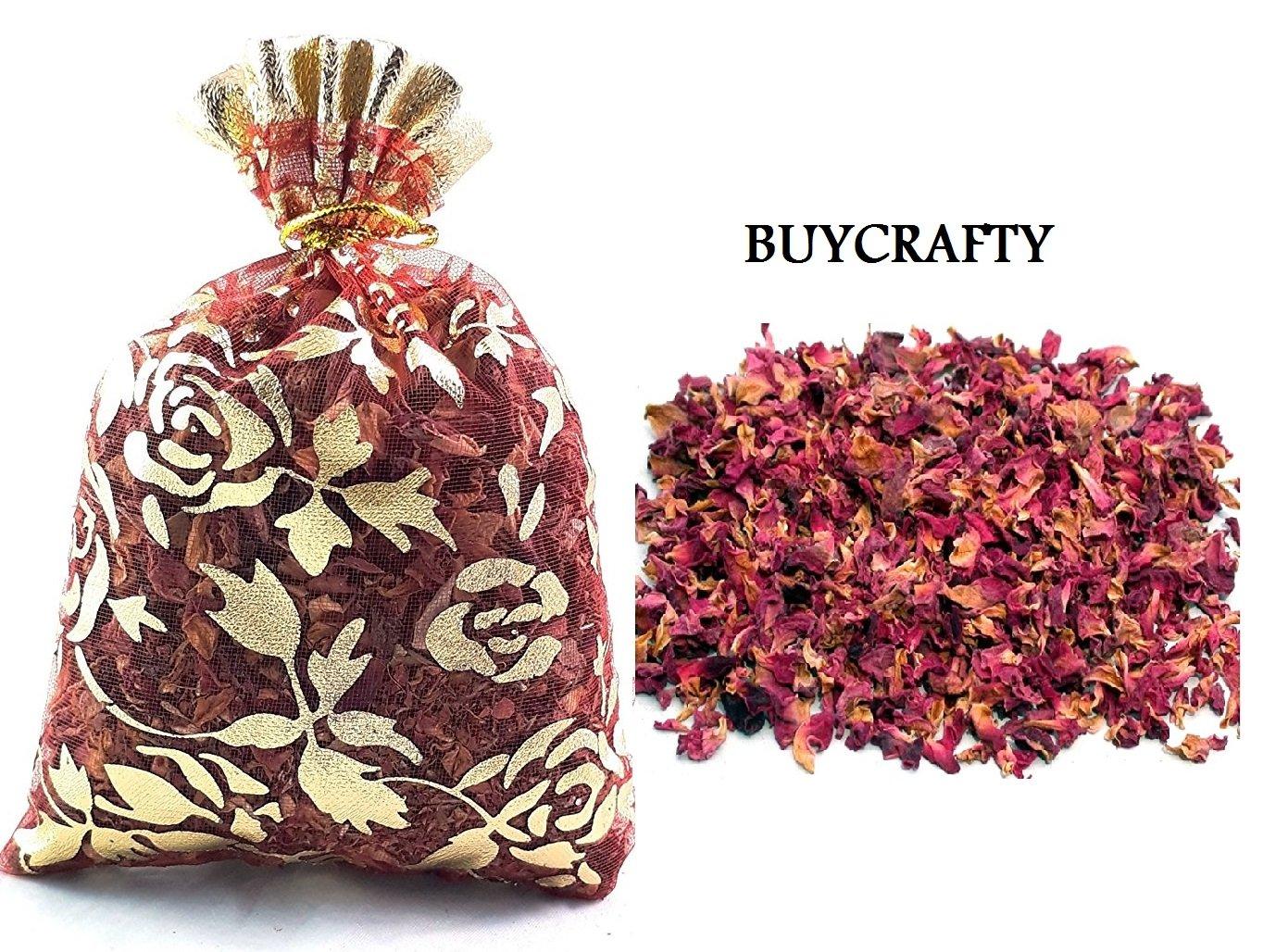Buycrafty 20g DRIED ROSE PETALS Bag Tea Potpourri Wedding Decor Organic Herbal Craft Car Perfume