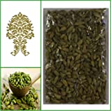 Natural green whole cardamom pods (elaichi, elachi, hal) - 3.5 oz, 100g.