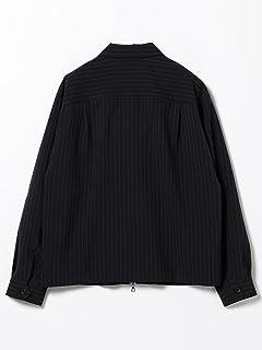 Stripe Polyester Blouson 51-18-0305-012: Navy