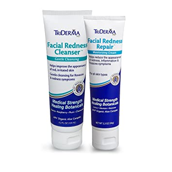 Triderma Facial Cleanser 6.2 oz, 2 Pack Pure Science International - Clear Beauty Intensive Dark Spots & Brightening Correcting Cream - 2 oz.