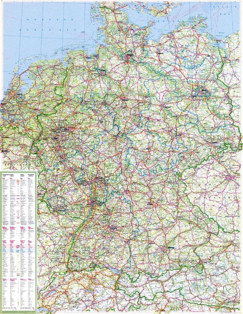 deutschlandkarte zum aufhängen Die große Deutschlandkarte 1 : 750 000. Poster Karte: Mit