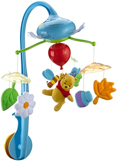 Amazon.com : Winnie The Pooh Dream Cloud Cot Mobile : Baby