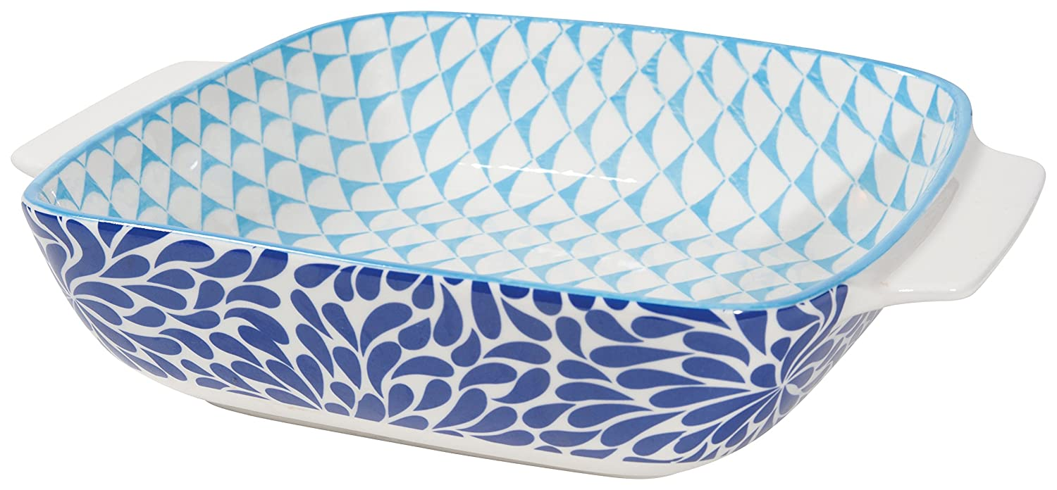Set of Four 4.5 Square 5092001 Sapphire Design Now Designs Stamped Baking Dish