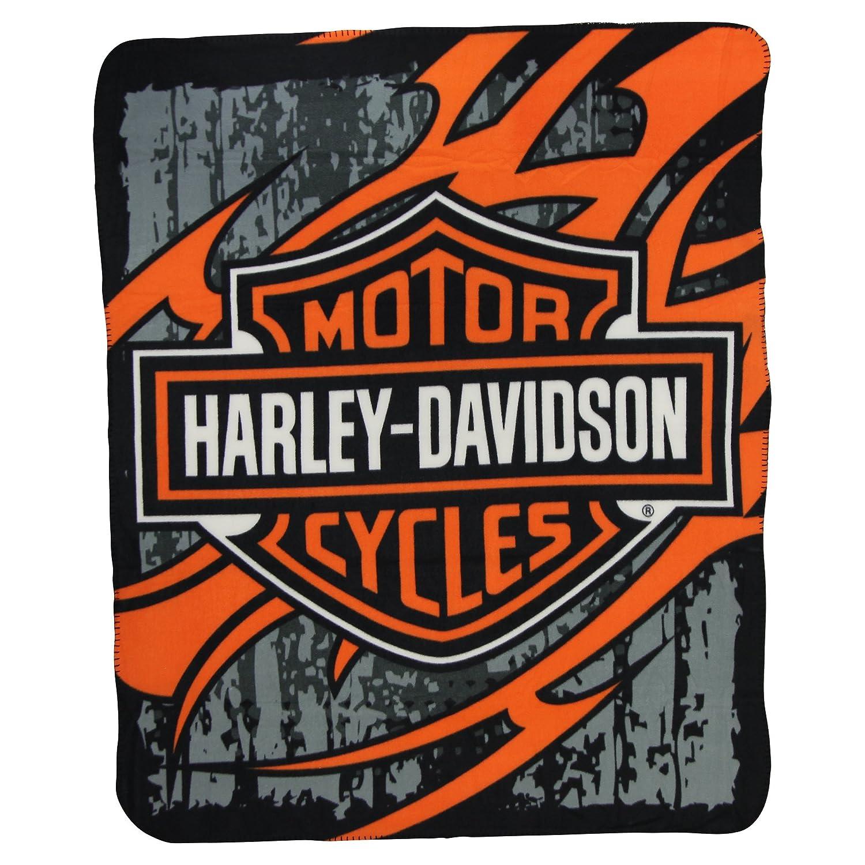 Harley Davidson Fleece Throw Blanket (6 Styles)