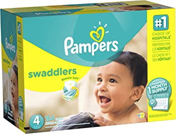 Pampers Swaddlers 164 Count Size 4 Diapers (One Month Supply)