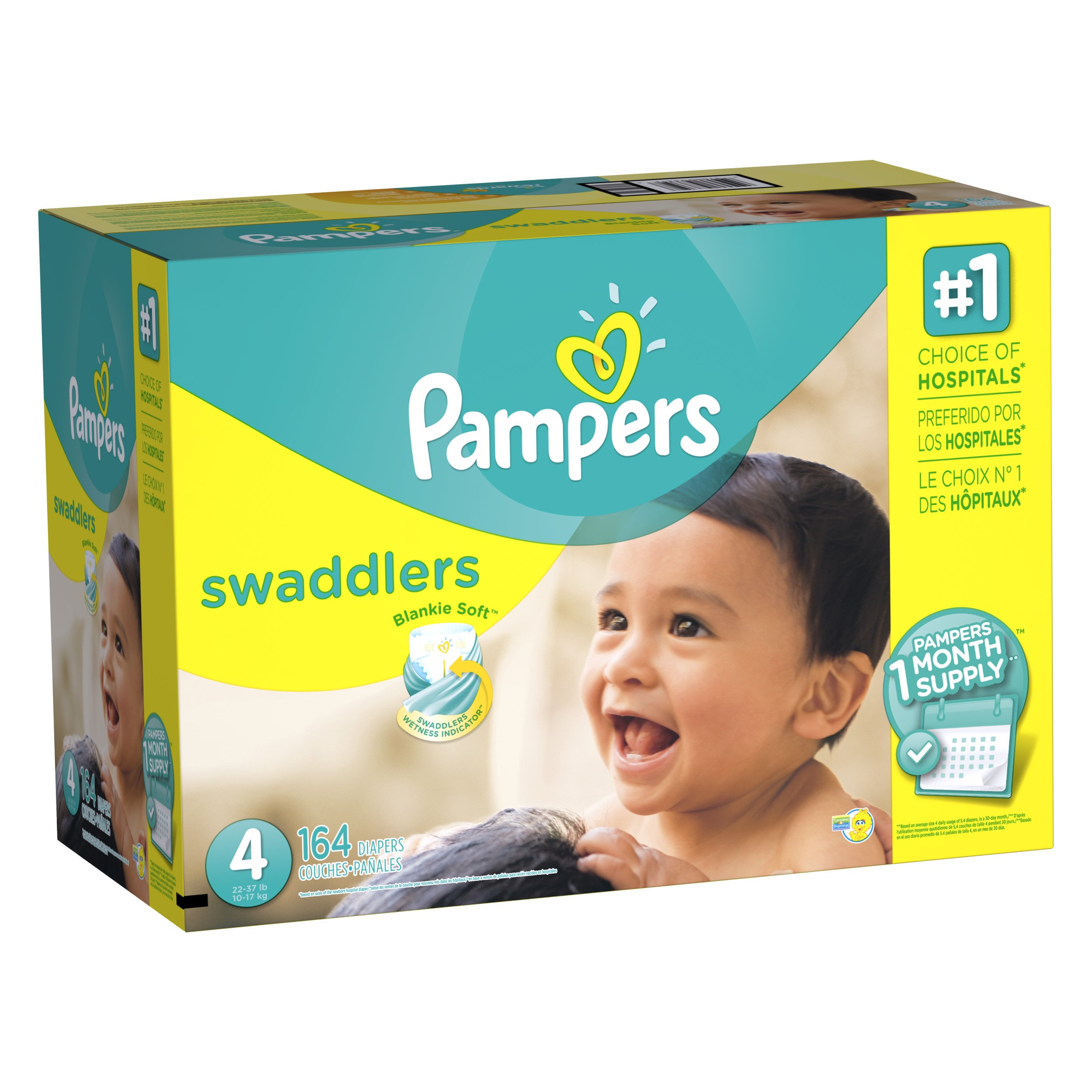 Pampers Swadlers Size 4 by Pampers