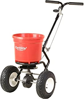 amazon com lesco high wheel fertilizer spreader manual earthway 2150 commercial 50 pound walk behind broadcast spreader
