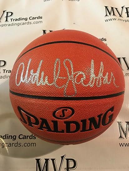 Kareem Abdul-Jabbar Authentic Autograph NBA Replica Full Size Spalding  Basketball w Beckett COA fb2c45cb7