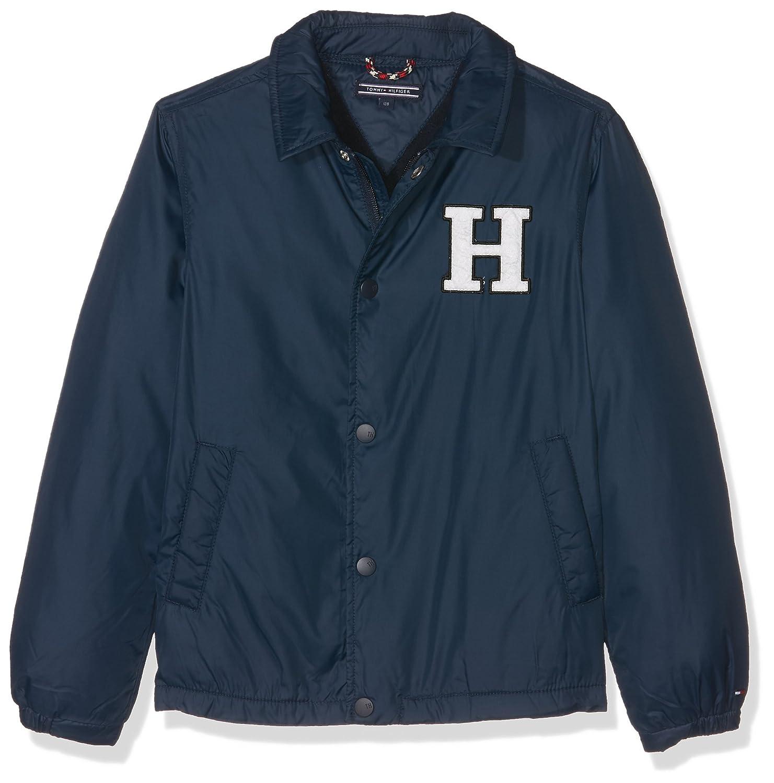 Tommy Hilfiger Ame THKB Basic Coach Jacket, Chaqueta Punto para Hombre, Azul (Sky Captain Heather) 128 (Talla del Fabricante: 8): Amazon.es: Ropa y ...