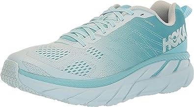 Women/'s Hoka One One Clifton 6 Running Shoes Plein Air Moonlight Blue D-Wide