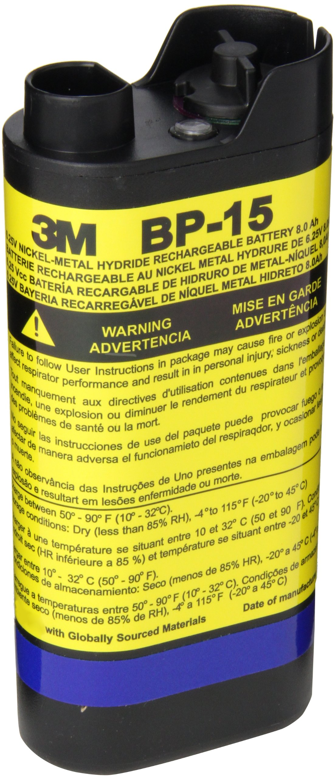 3M Breathe Easy Turbo Powered Air Purifying Respirator (PAPR) NiMH Battery Pack, Respiratory Protection BP-15