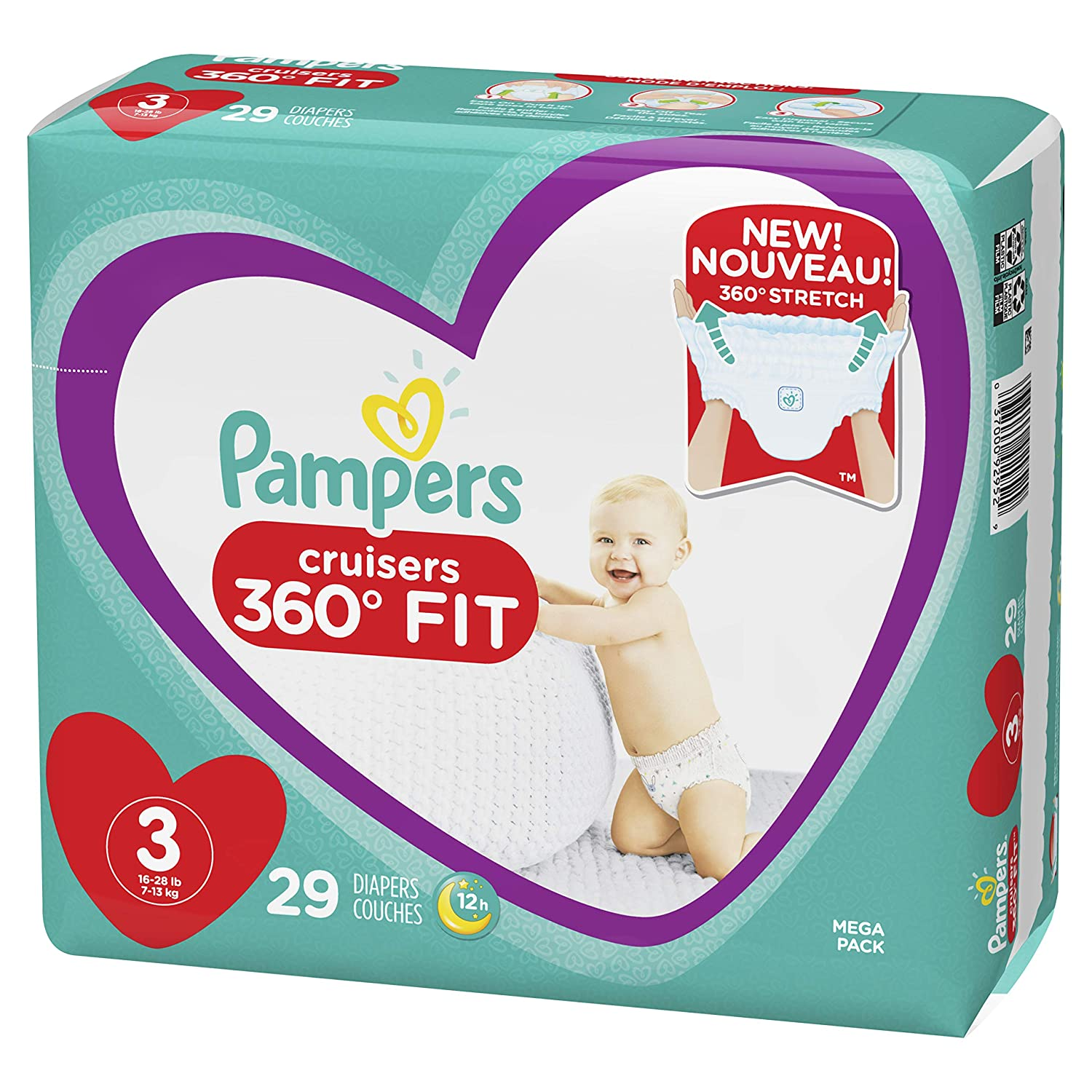 Pampers Cruisers 360˚ Fit Diapers Size 3 29 Count