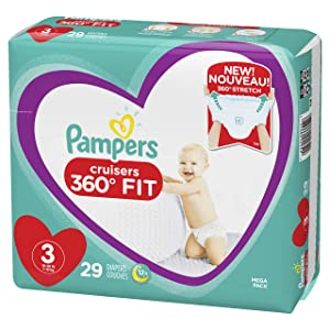 Pampers Cruisers 360˚ Fit Diapers, Size 3, 29 Count