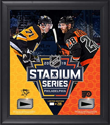 2019 NHL Stadium Series Pittsburgh Penguins vs. Philadelphia Flyers Framed  15 quot  x 17 quot  90145d52b