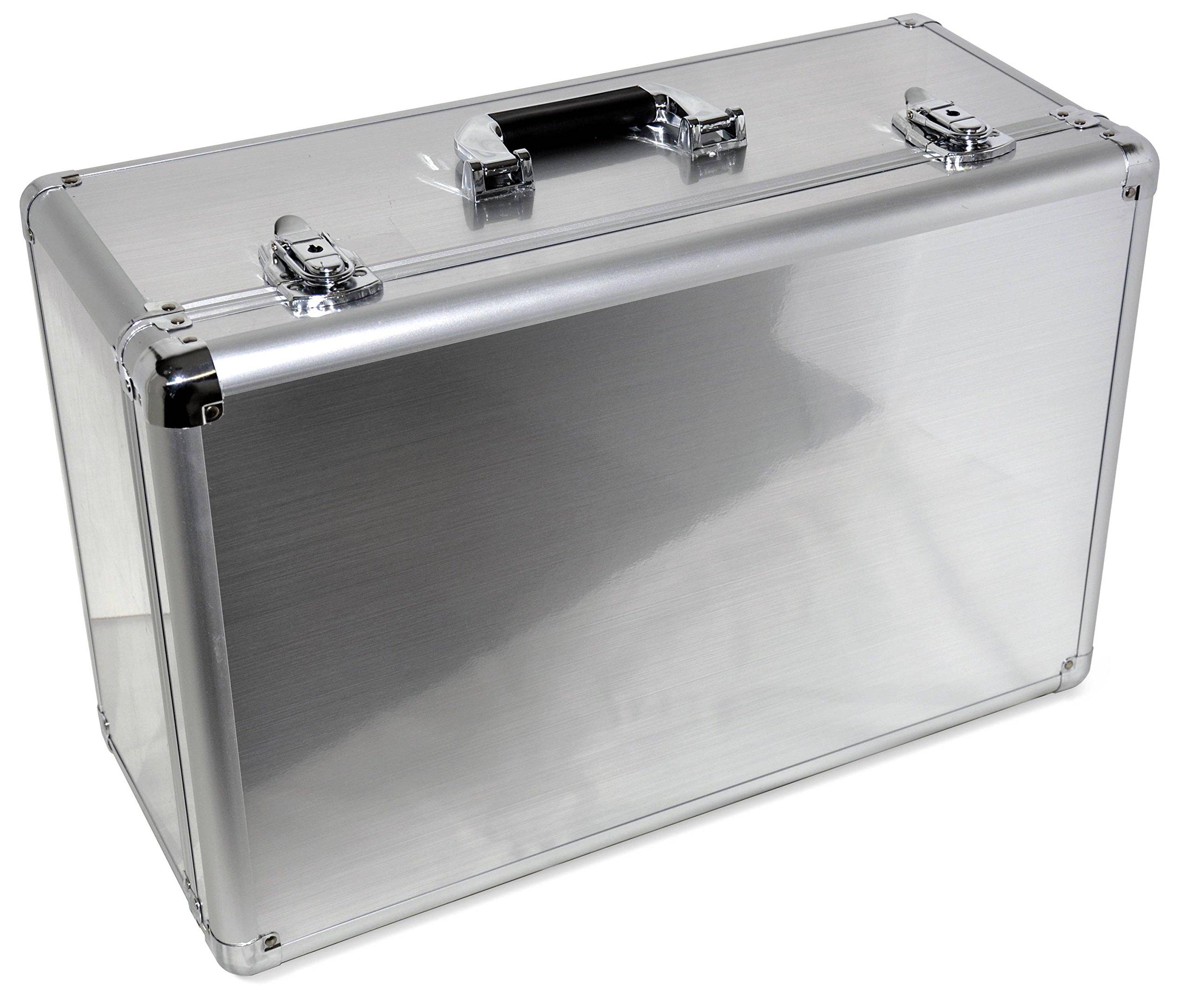 Aluminum Carrying Case DJI Phantom 4 Pro Obsidian, Phantom 4 Pro, Phantom 4 Advanced, Phantom 4, Fits Extra Accessories