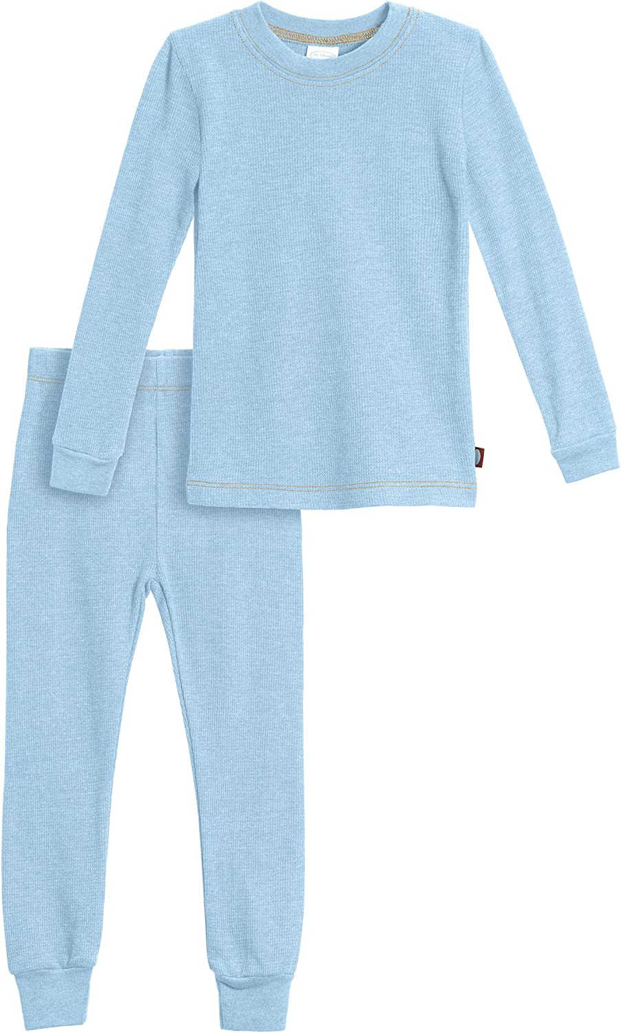 City Threads Little Boys Thermal Underwear Set Perfect for Sensitive Skin SPD Sensory Friendly Base Layer Thermal Wear Cotton Ski Clothing for Kids Comfortable Ultra Soft Bright Lt Blue 6