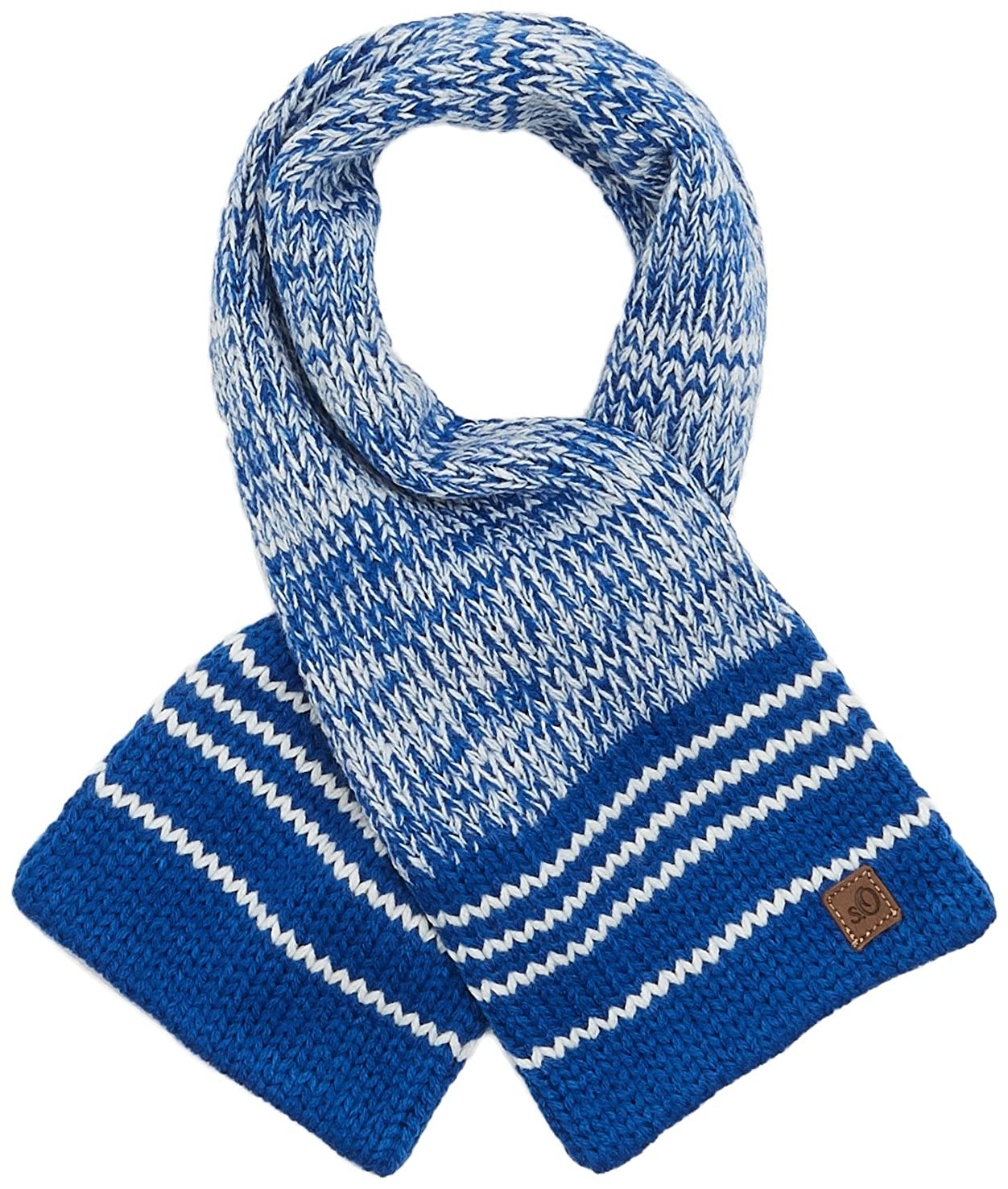 s.Oliver Baby Boys' 59.710.91.2781 Scarf, Blau (Dark Blue Stripes 58S4), One Size