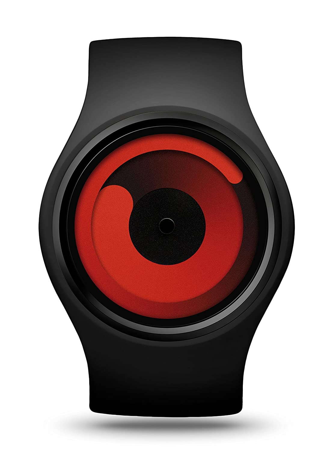 ZIIIRO Gravity Black Red Unisex Uhr flexible Silikon Strap Watch designed in Germany