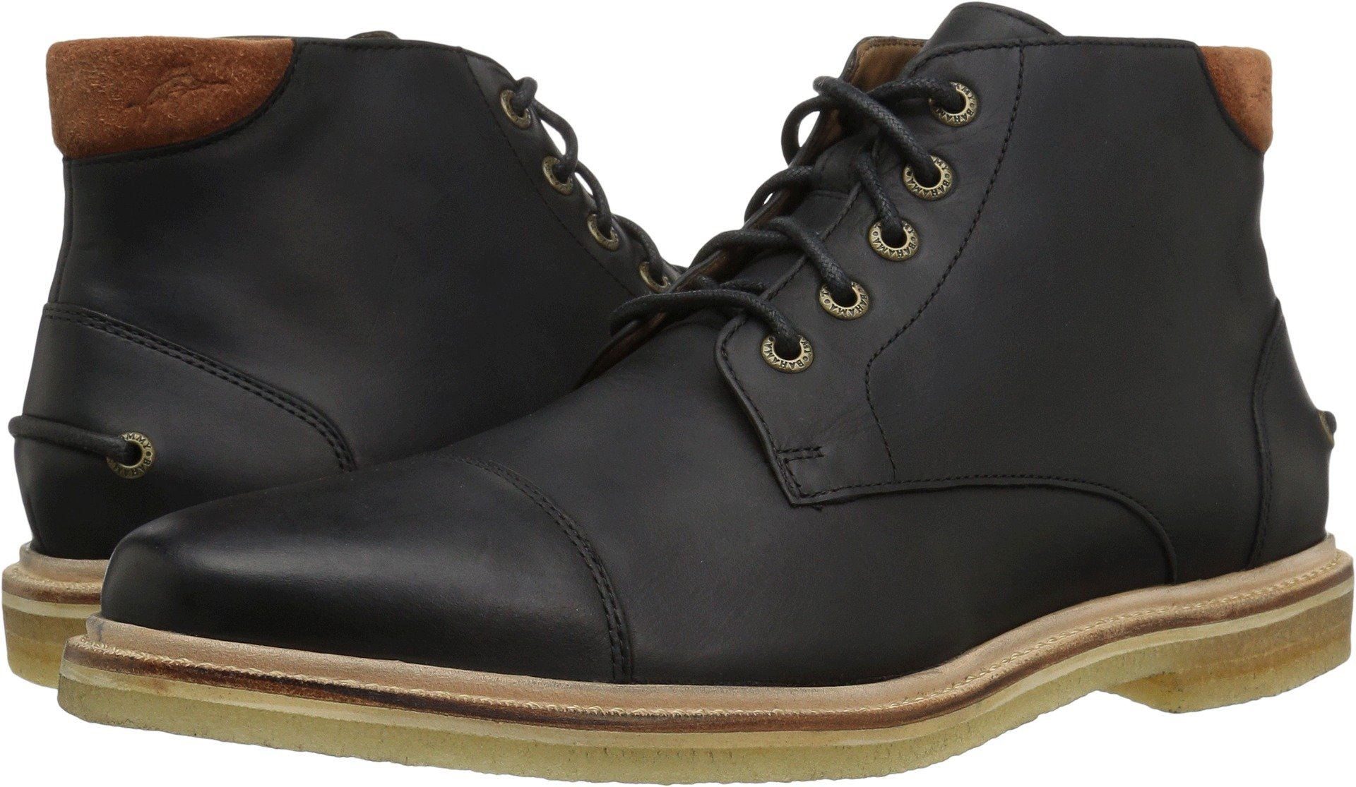 Tommy Bahama Men's Argon Blooms Chukka Boot, Black, 10 D US