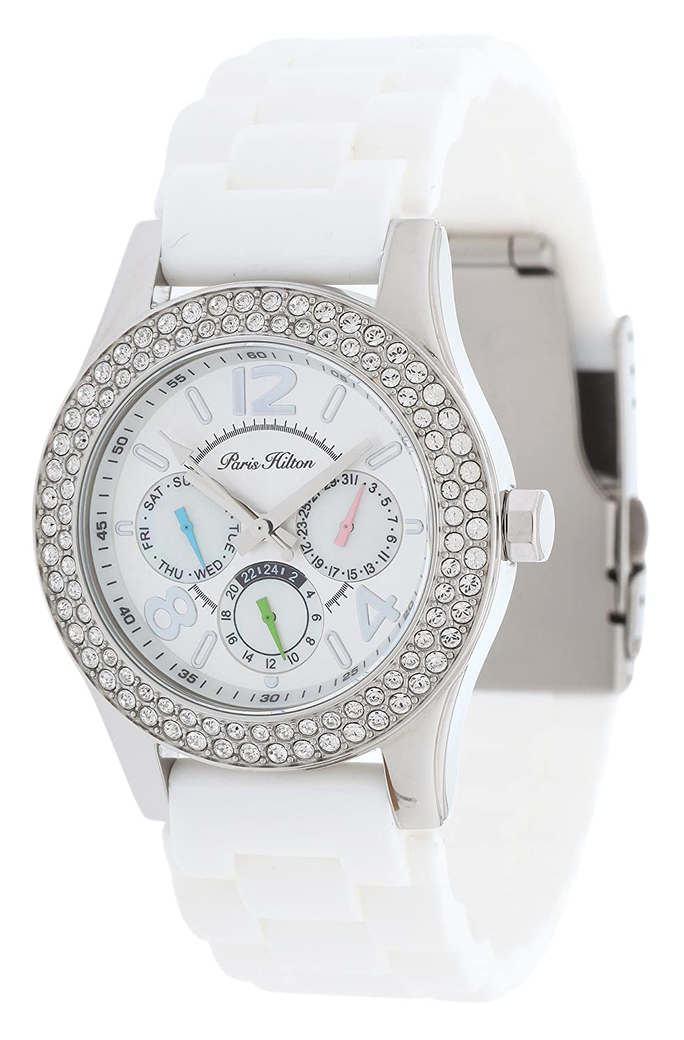 Paris Hilton Damen-Armbanduhr Chronograph Analog Quarz Edelstahl PH11687M